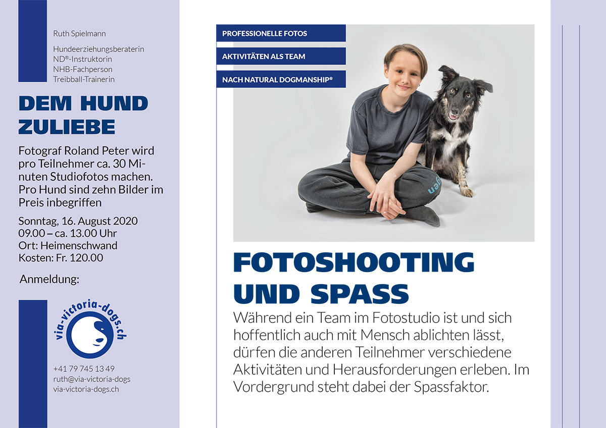 2020 Flyer Fotoshooting und Spass